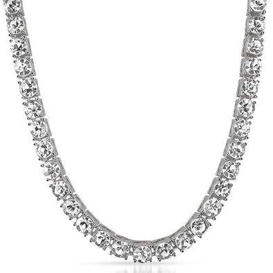 Rhodium 8MM 1 Row Tennis Chain Bling Bling