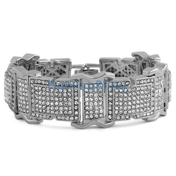The Boss Rhodium Bling Bling Bracelet