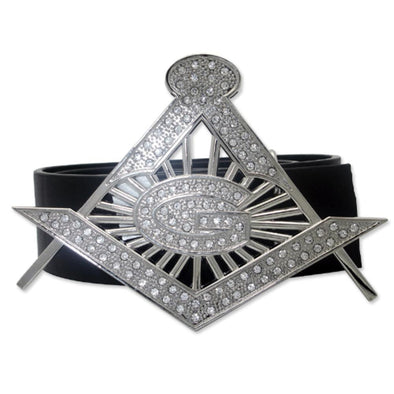 Masonic G Silver Belt Buckle