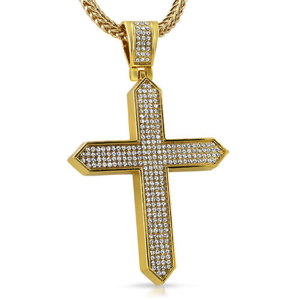 Gold on Point Cross Pendant