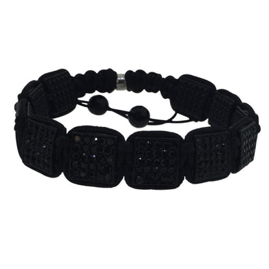 Black Square Link Rope Bracelet