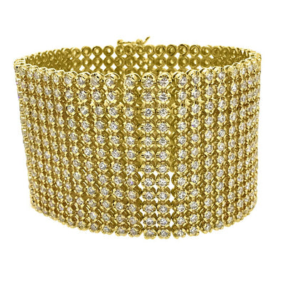 CZ 12 Row Bling Bling Bracelet Gold