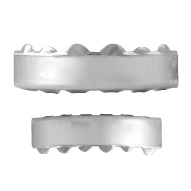 Hip Hop Grillz Bar Style Rhodium Set