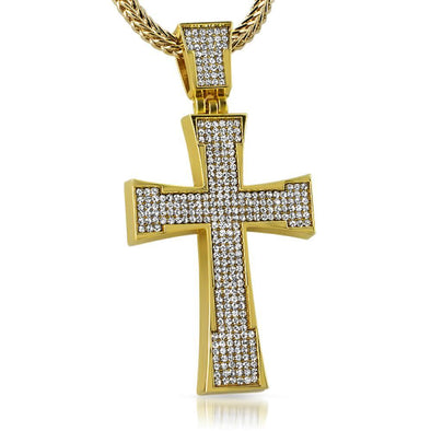 Gold Jagged Ice Cross