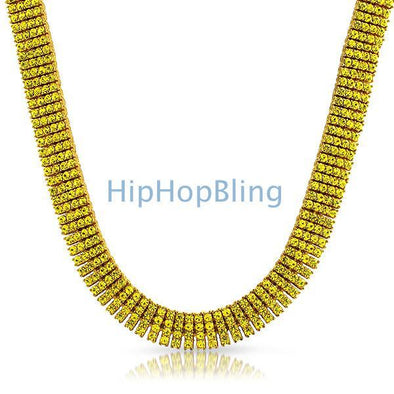 Canary Lemonade Bling Bling 4 Row Necklace