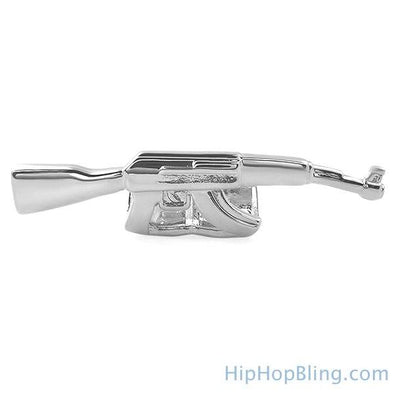 Machine Gun Grillz Silver
