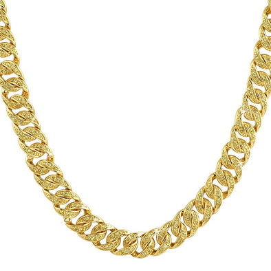 CZ Lemonade Gold Bling Bling Cuban Chain