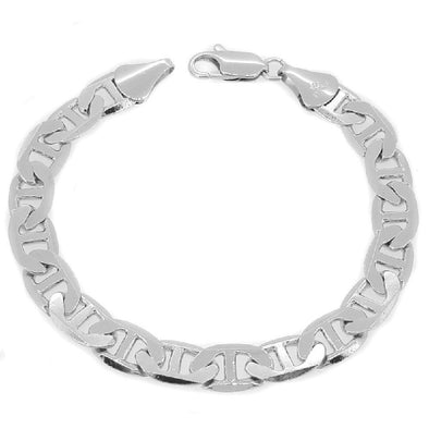 Marine 9MM Silver Plated Bracelet
