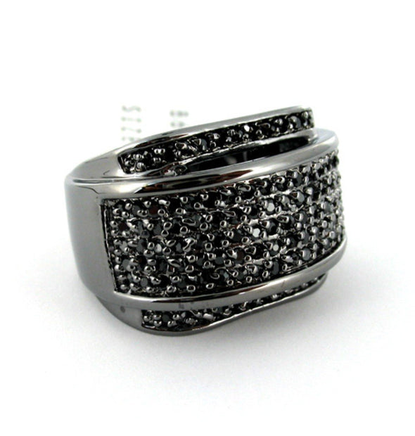 Clean & Icey Mens Black on Black CZ Ring (10)