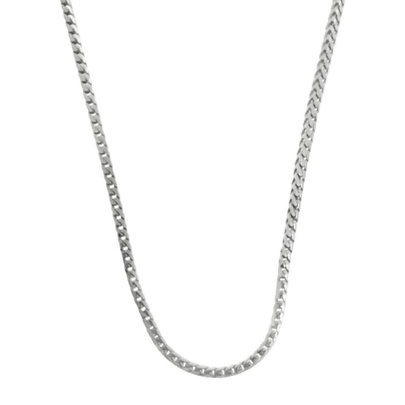 .925 Sterling Silver 1.5MM Franco Chain Rhodium