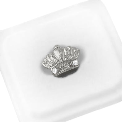 Silver King Crown Single Tooth Grillz