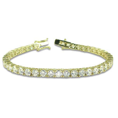 Ladies Gold Plated CZ Tennis Bracelet