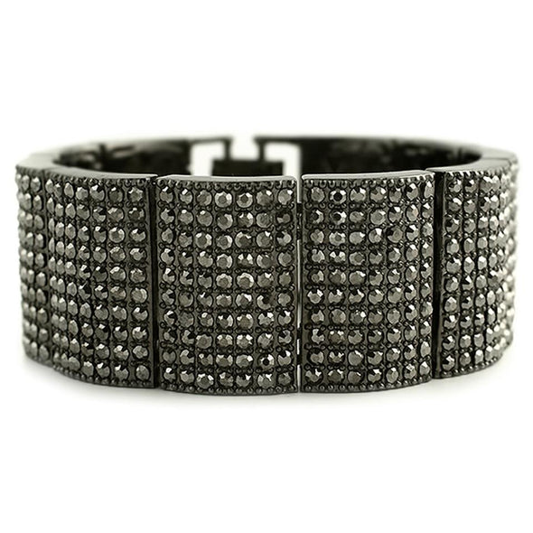 Black Ice Bump Wide Bracelet