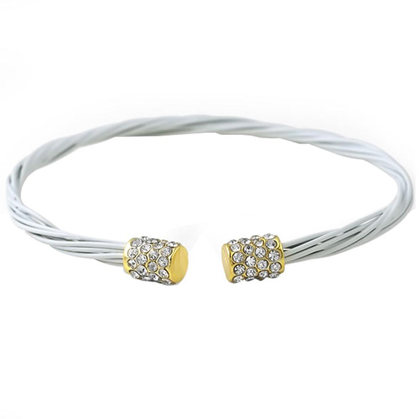 Gold White Guitar String Fashion Bracelet