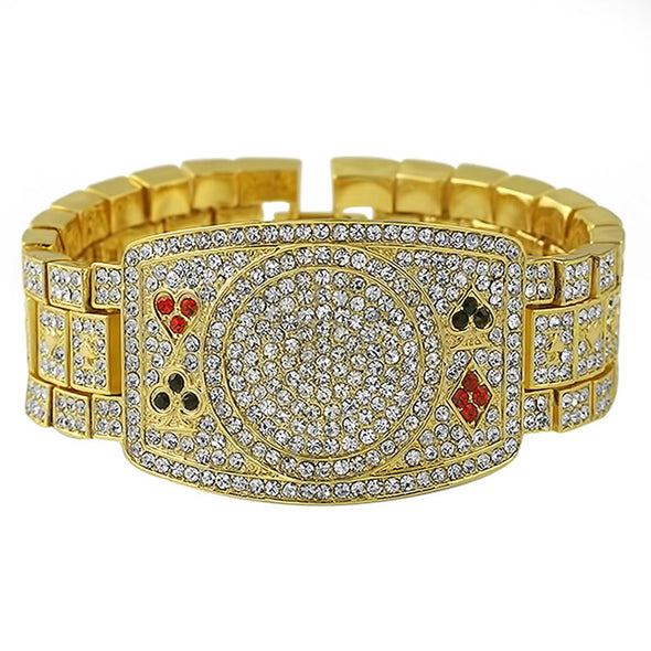 Texas Hold Em Poker Gold Bracelet
