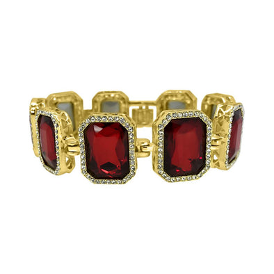 Red Gem Style Hip Hop Bracelet