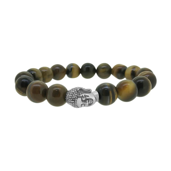Buddha Tiger Eye Beads Fashion Bracelet