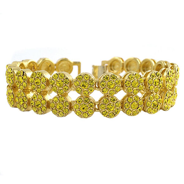 2 Row Lemonade Cluster Bracelet
