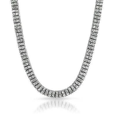 2 Row Chain Rhodium