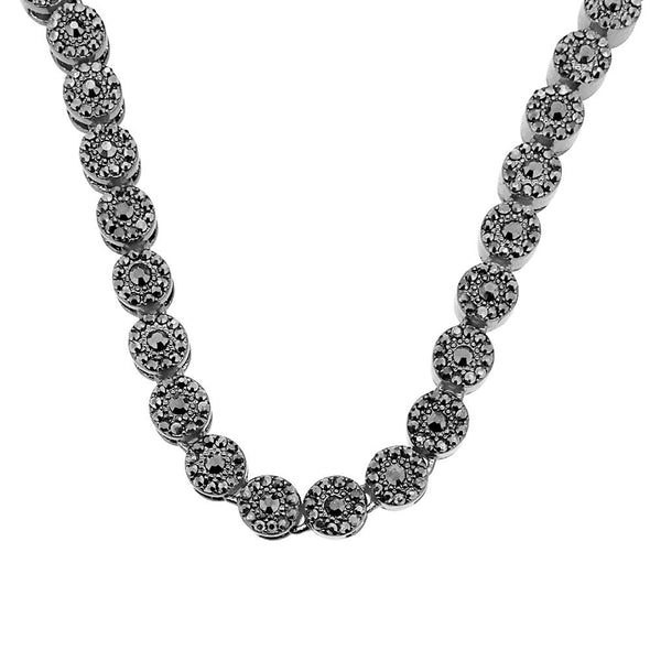 Black Hematite Cluster Bling Chain