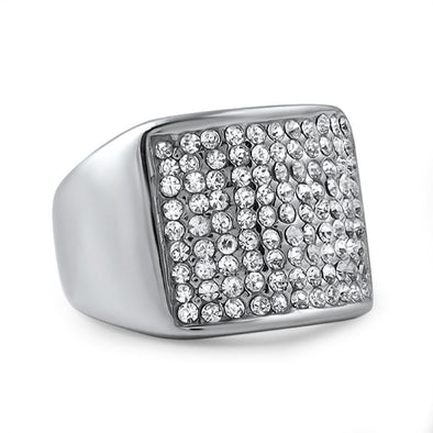 Classic Stainless Steel Bling Ring