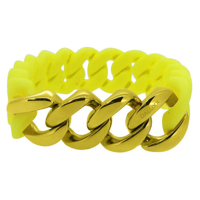 Gold Cuban Yellow Rubber Bracelet