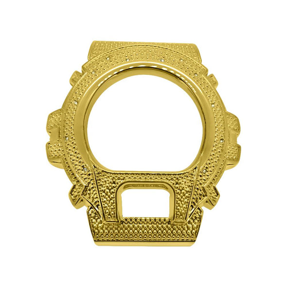 Diamond .12 Carat Gold Bezel for Casio G Shock DW6900