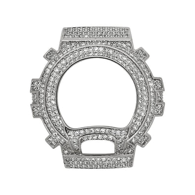 Silver CZ Case Bezel for G Shock DW6900
