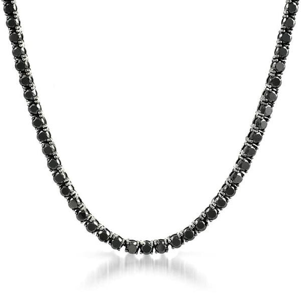 3MM 1 Row CZ Black Tennis Chain