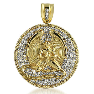 Gold Angel Medallion