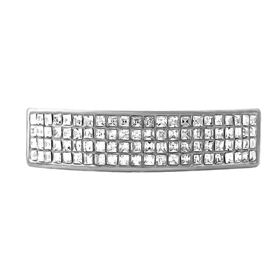 4 Row Grillz Rhodium Top