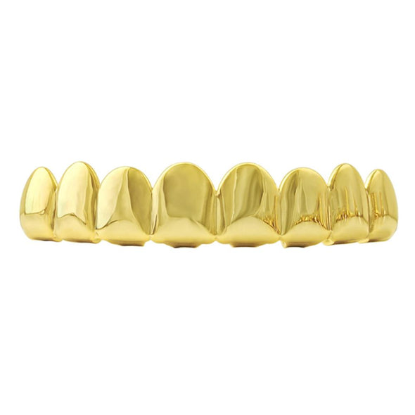 8 Tooth Gold Grillz Top