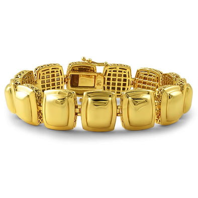 Gold Metal Gem Illusion Bracelet