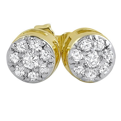 Gold Cluster CZ Earrings