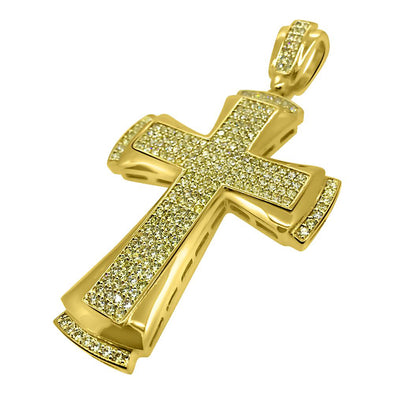 CZ Designer Cross Lemonade Pendant