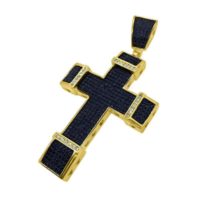 Black and Yellow Chunky Gold Cross