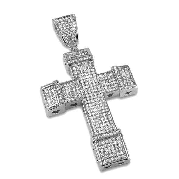 Cross CZ Rhodium Pendant