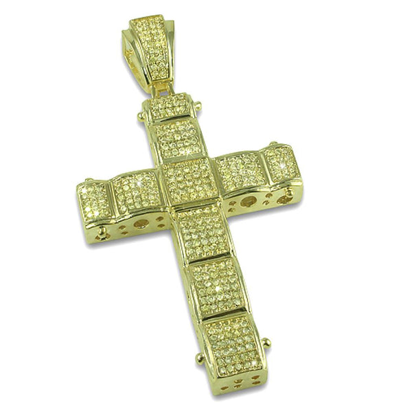 Lemonade Bubble CZ Cross Pendant