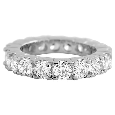 Eternity CZ Diamond Rhodium Ring
