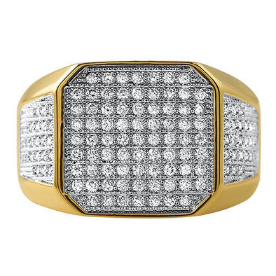 Radiant CZ Mens Micro Pave Bling Bling Ring