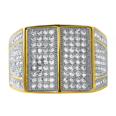 Max CZ Mens Micro Pave Bling Bling Ring
