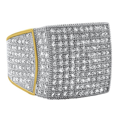 All Icey CZ Mens Micro Pave Bling Bling Ring