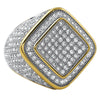 Diamond Box CZ Mens Micro Pave Bling Bling Ring