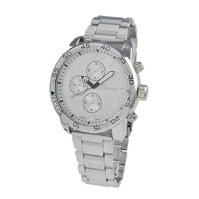 Clean All Silver Metal Band Watch
