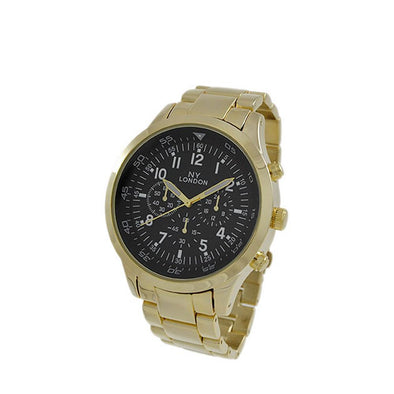 Black Dial Gold Mens Sport Watch