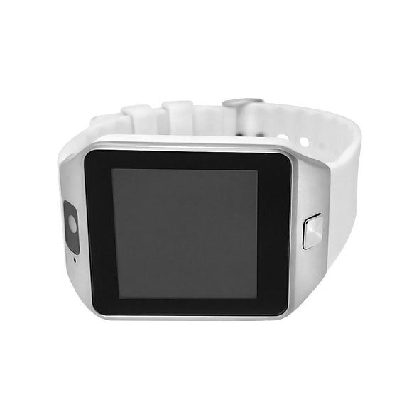 Smart Watch Silver Case White Band