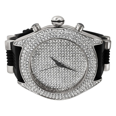 Full Dial and Triple Bezel Icey Watch Silver