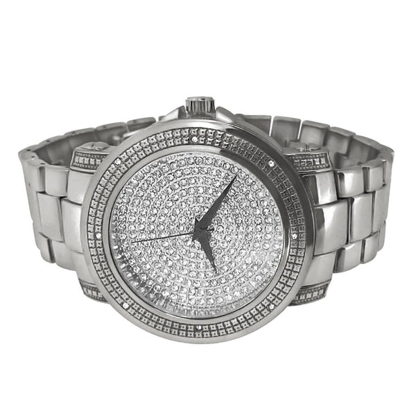 Dial Heavy Silver Hip Hop Watch