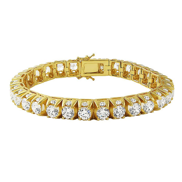 3D Thick Tennis Bracelet Gold