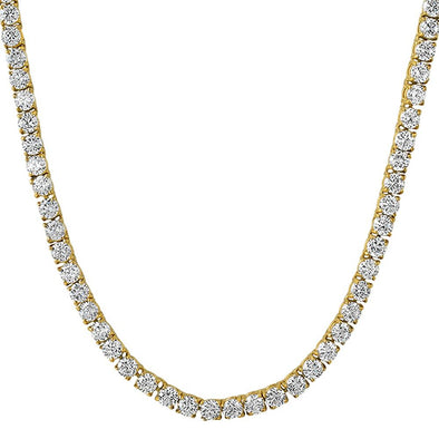 .925 Silver 4MM CZ Bling Tennis Chain Gold